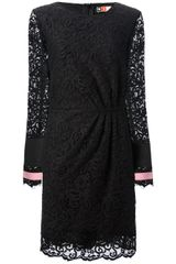 MSGM Lace Shift Dress - Lyst