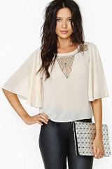 Nasty Gal Modern Love Beaded Top - Lyst