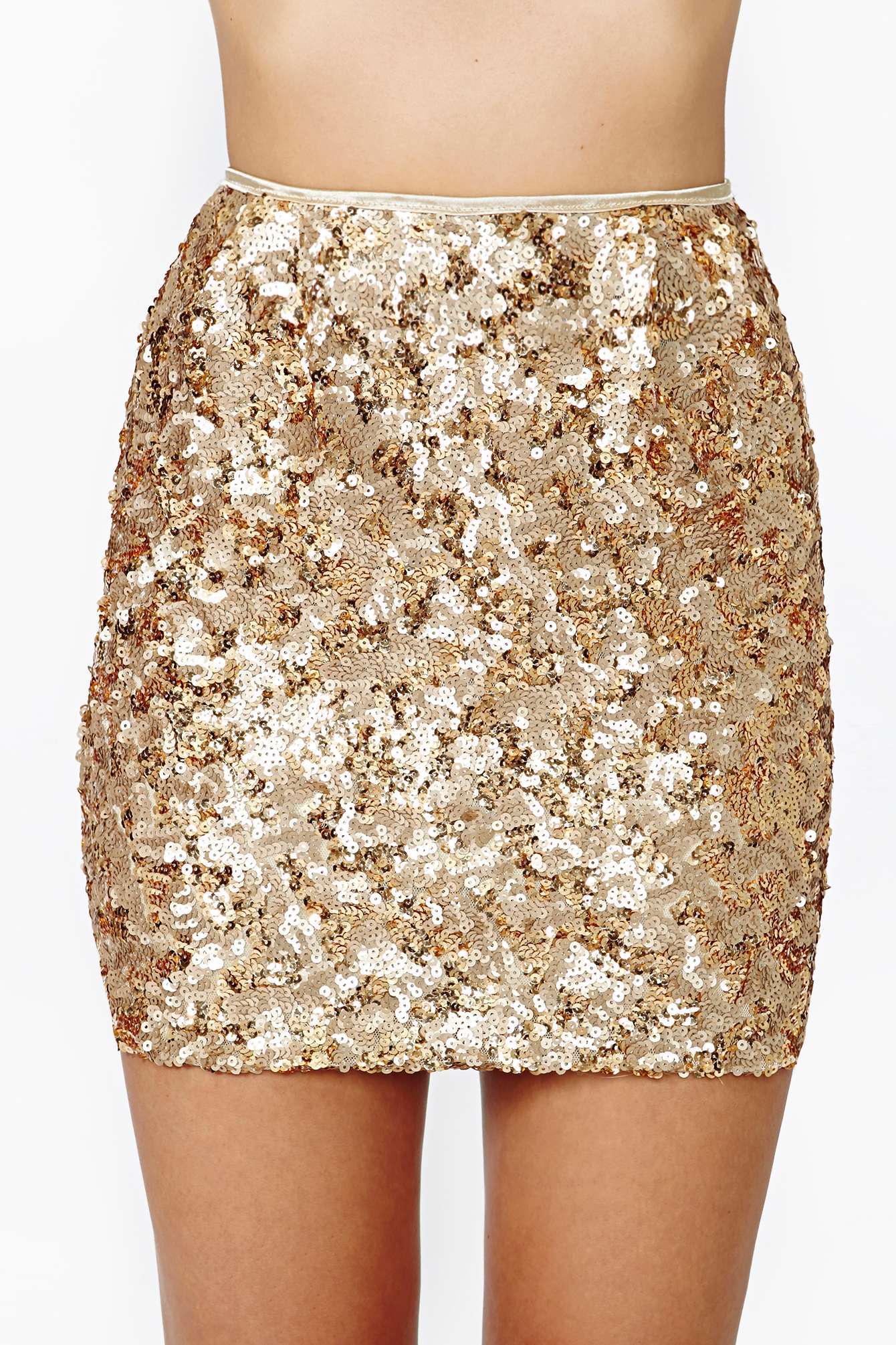 Sequin Gold Skirt - Dress Ala