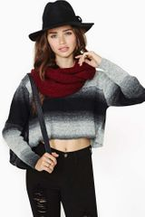 Nasty Gal Dark Horizon Crop Knit - Lyst