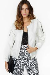 Nasty Gal Brocade Bomber Zip Jacket - Lyst
