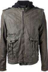 Neil Barrett Zipped Leather Jacket - Lyst