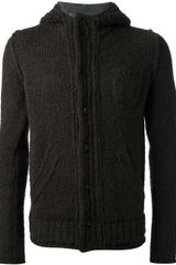 Paolo Pecora Distressed Knit Cardigan - Lyst