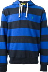 Polo Ralph Lauren Striped Hoodie - Lyst