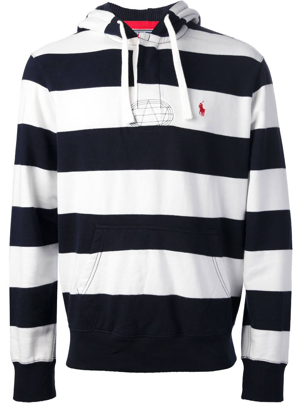 polo ralph lauren striped hoodie in blue for men lyst. Black Bedroom Furniture Sets. Home Design Ideas