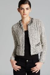 Rebecca Taylor Jacket Embellished Tweed - Lyst