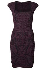 Rvn Pheonix Jacquard Dress - Lyst