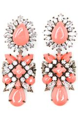 Shourouk Crystal and Enamel Beaded Earrings - Lyst