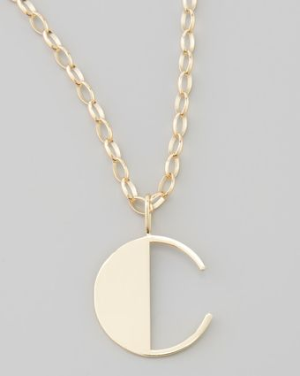 Sydney Evan Letter Charm Necklace M - Lyst