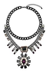 Topshop Flower Drop Necklace - Lyst