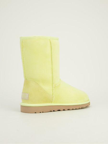 Ugg Classic Short Boot In Yellow Yellow Amp Orange Lyst
