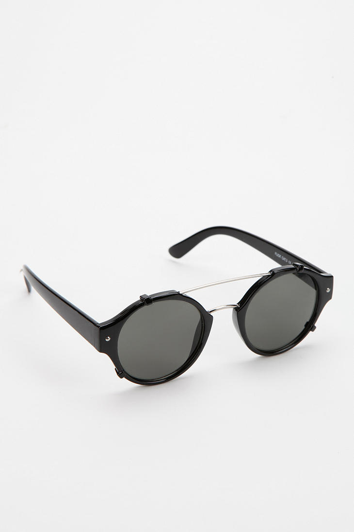 85e8ba36964 Lyst - Urban Outfitters Spitfire Flick Round Sunglasses in Black for Men