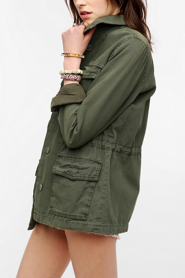 Urban outfitters Ecote Classic Surplus Jacket in Green | Lyst