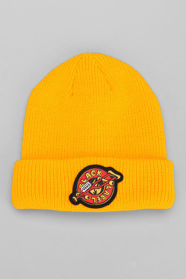 0e0f35b312 Lyst - Urban Outfitters Vans Black Label Skateboard Beanie in Yellow ...