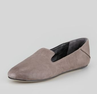Vera Wang Lavender Georgia Leather Smoking Slipper Gray - Lyst