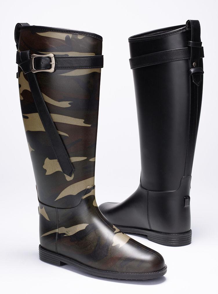 Victoriau0026#39;s Secret Riff Raff Rain Boot In Green (camouflage ...