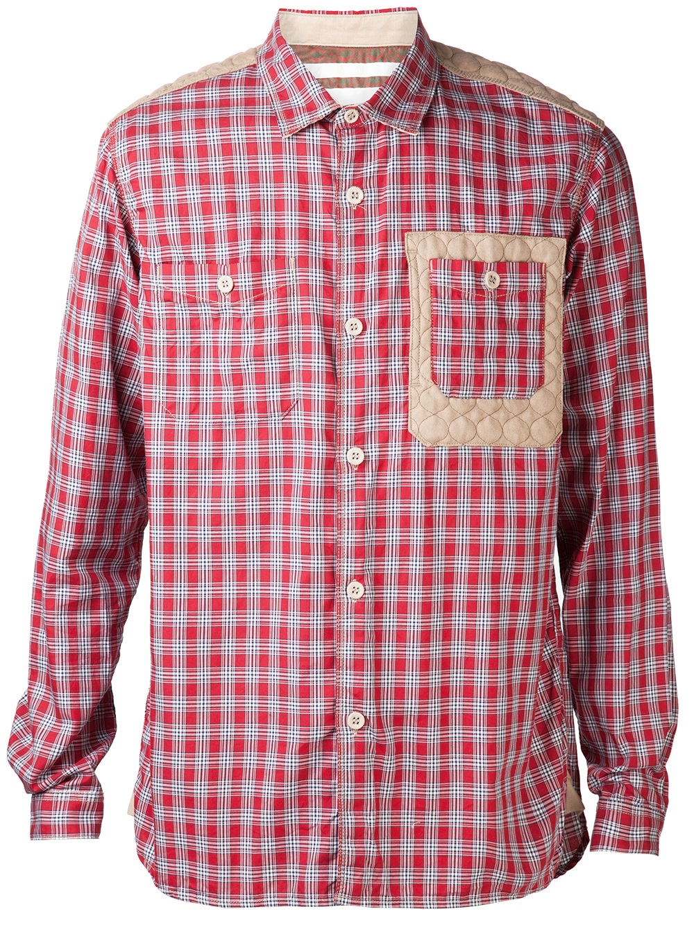 White Mountaineering Plaid Pattern Shirt In Red For Men Lyst