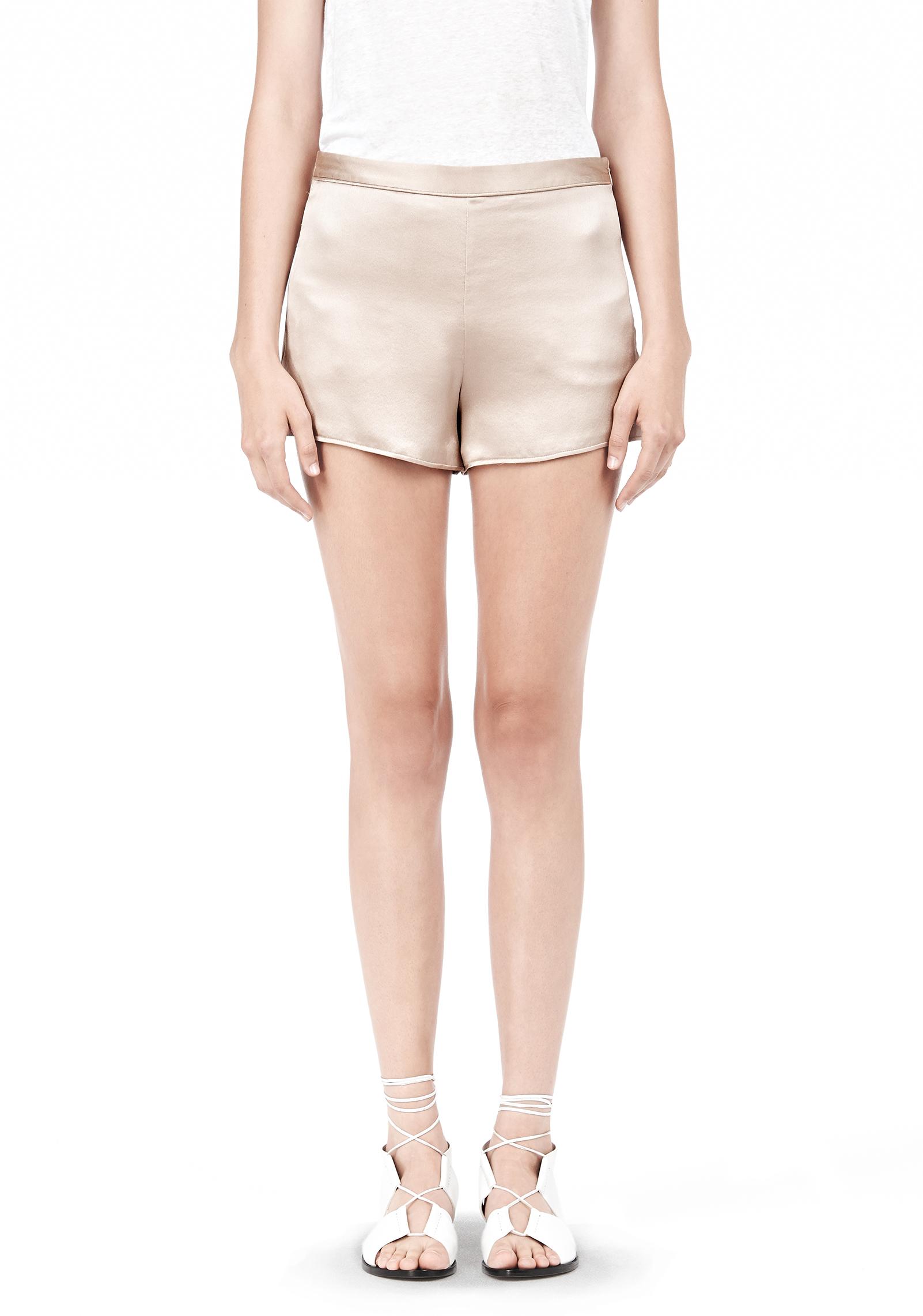 Lyst Alexander Wang Silk Satin Shorts In Pink