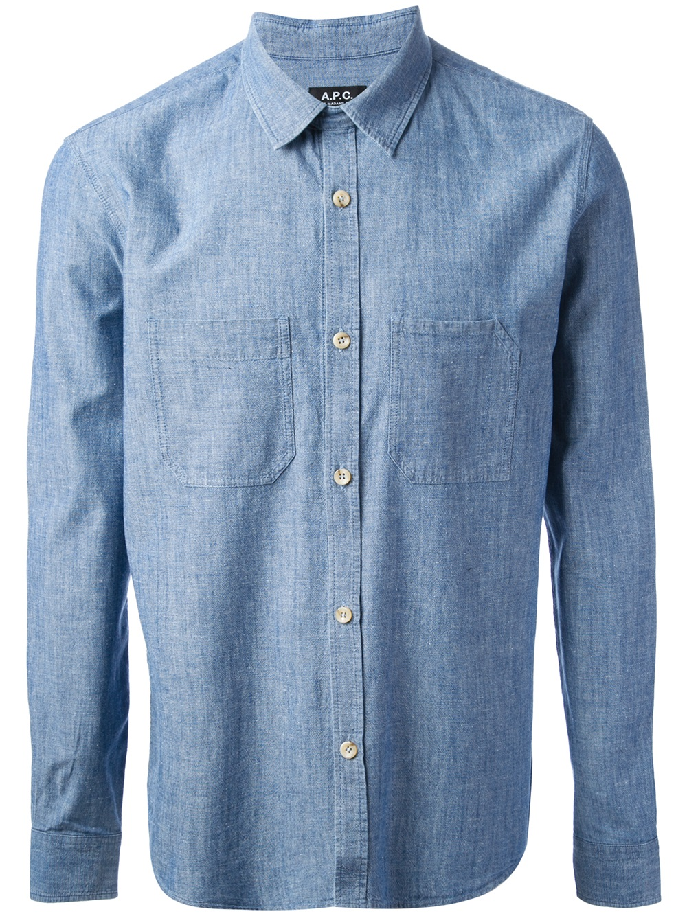 Lyst A P C Chambray Work Shirt In Blue For Men