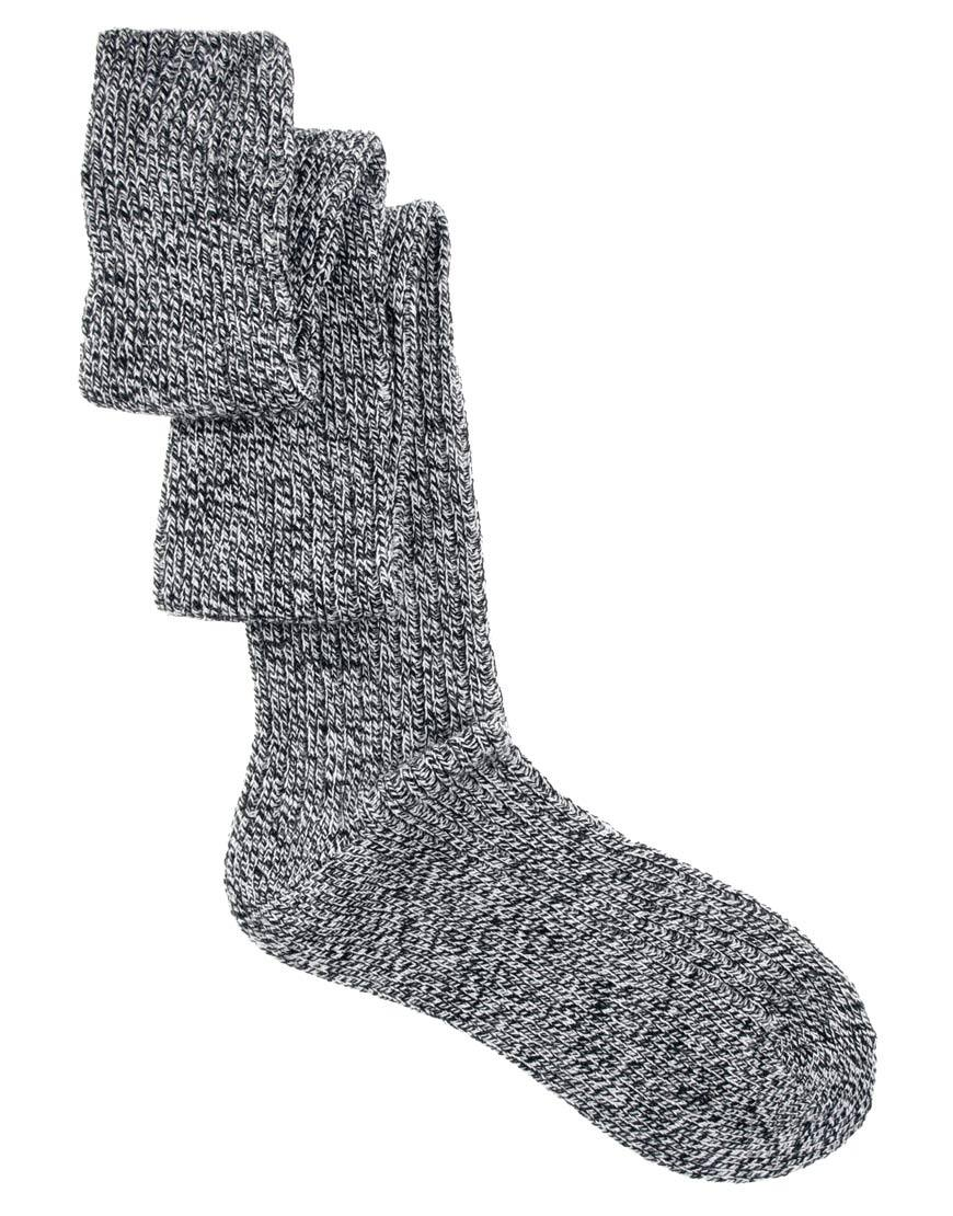 3e0e06ca00788 Lyst - Fred Perry Asos Over The Knee Mix Knit Socks in Gray