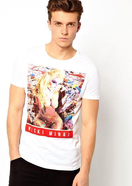 Joe 39 S Jeans Tshirt With Nicki Minaj Print In White For Men