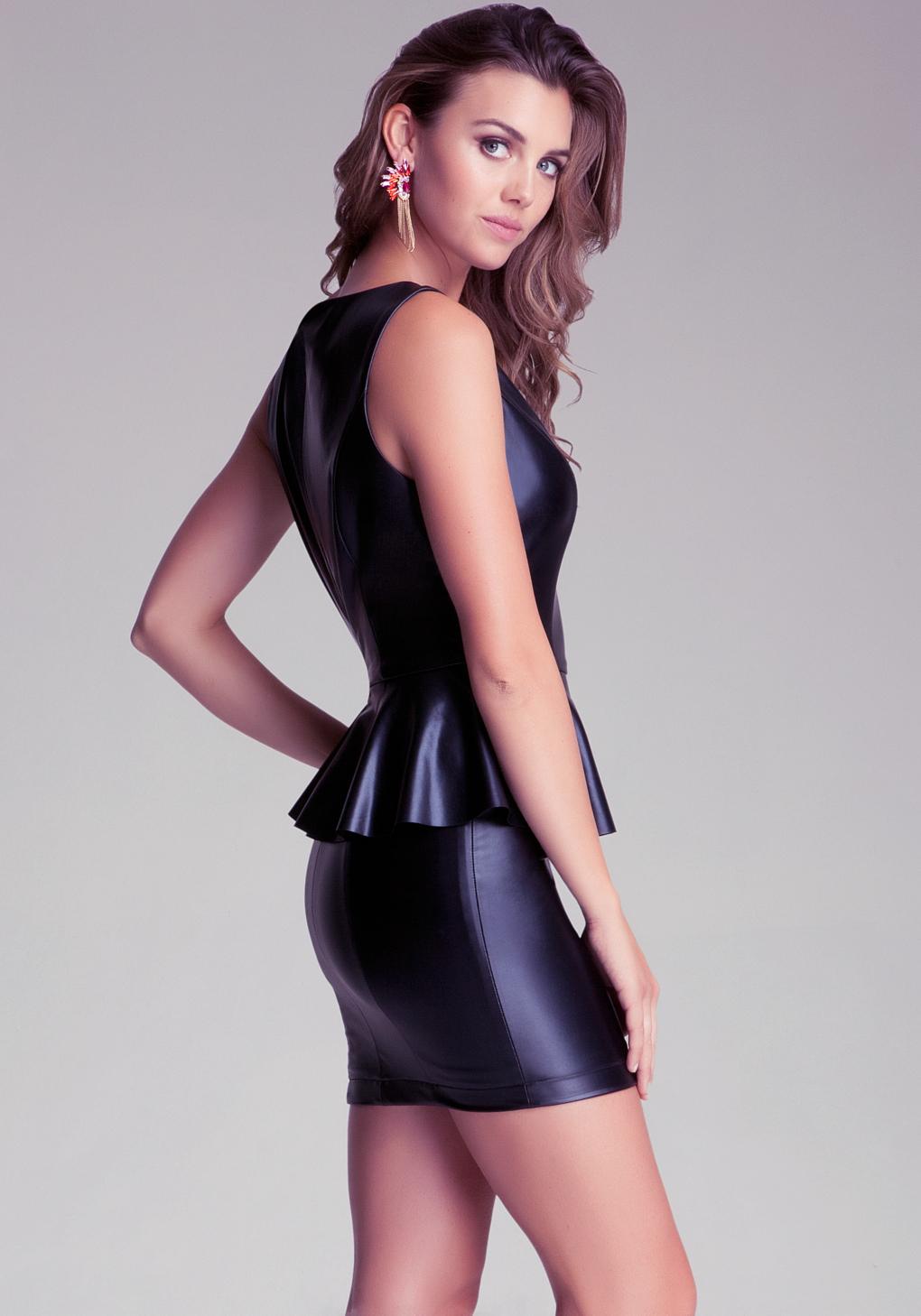 Lyst - Bebe Back Cutout Shine Bodycon Dress in Pink