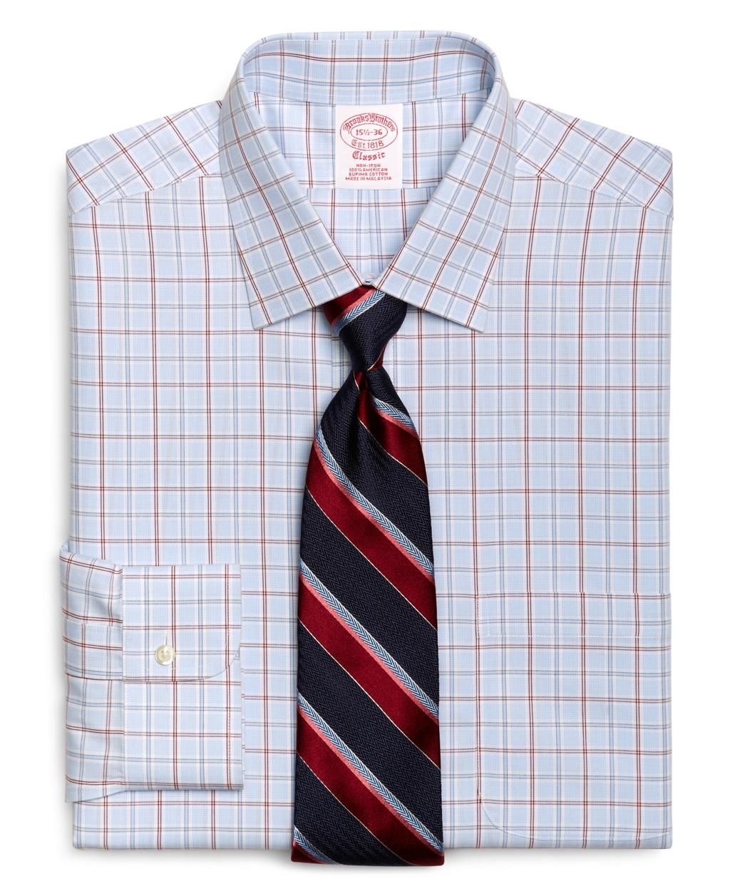 Lyst brooks brothers supima cotton noniron traditional for Supima cotton dress shirts