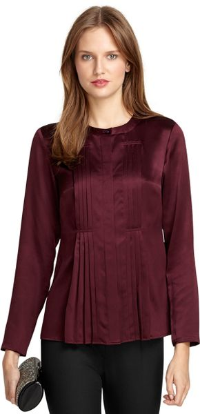 Stain Removal Wine Silk Blouse 104
