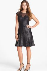 Calvin Klein Sequin Fit Flare Dress - Lyst