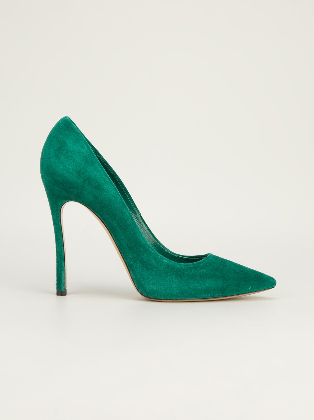 Lyst Casadei Pointed Toe Pump In Green