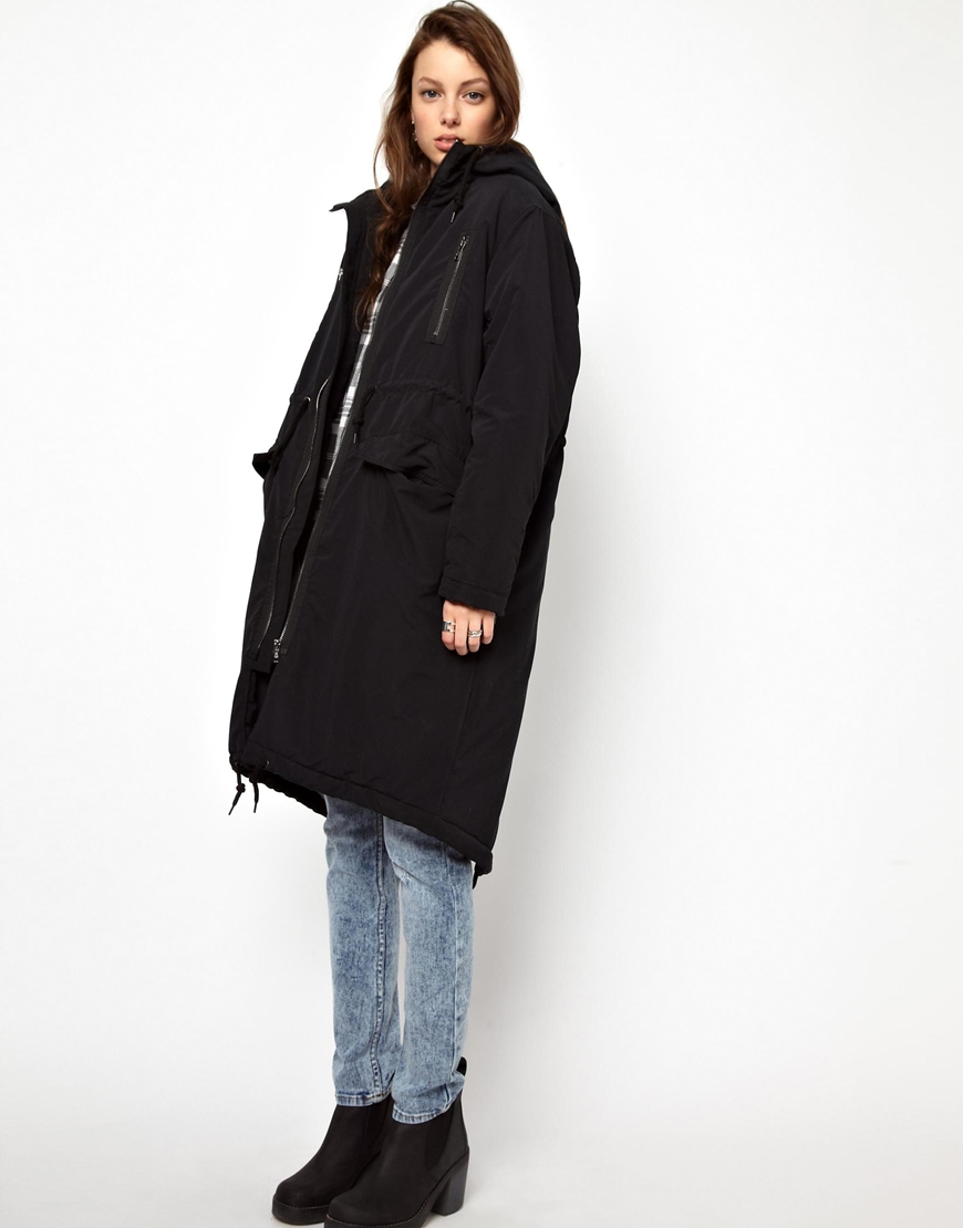 Cheap monday Parka in Black | Lyst