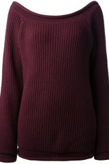 Christopher Kane Ribbed Knit Pullover - Lyst