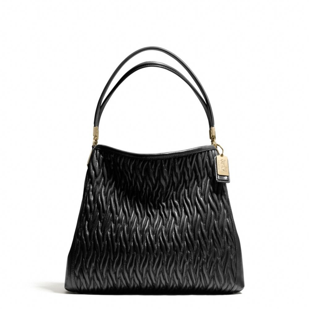 Coach Madison Small Phoebe Shoulder Bag in Gathered Twist ...