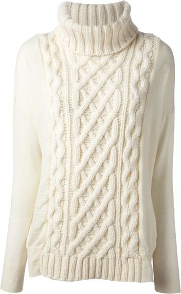 Coast Weber Ahaus Cable Knit Sweater In White Lyst