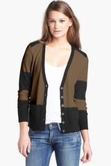 Halogen V-Neck Merino Wool Cardigan - Lyst