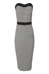 Jane Norman Strapless Stripe Dress - Lyst