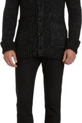 John Varvatos Long Shawl Collar Cardigan - Lyst
