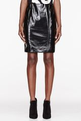 Jonathan Saunders Black Vinyl Elina Pencil Skirt - Lyst