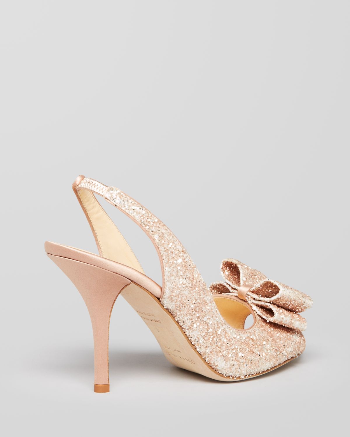 lyst   kate spade open toe evening pumps charm bow high