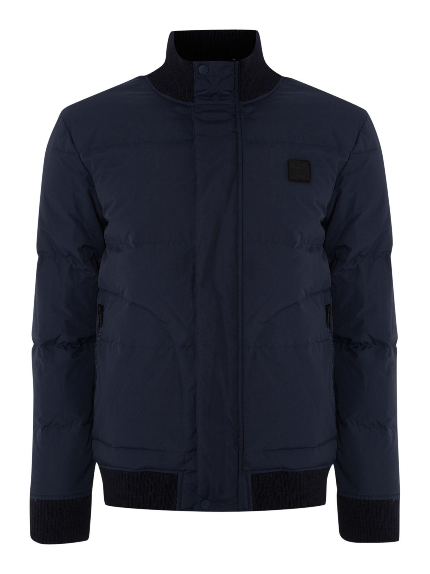 Lacoste Hooded Jacket In Blue For Men Navy Lyst