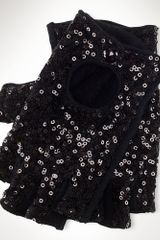 Lauren by Ralph Lauren Sequined Fingerless Gloves - Lyst