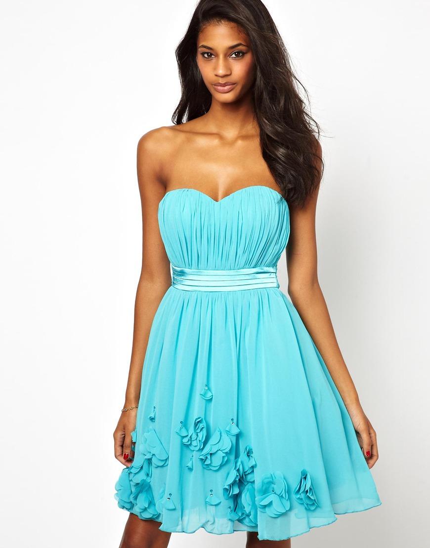 Lyst - Asos Little Mistress Embellished Floral Applique Prom Dress ...