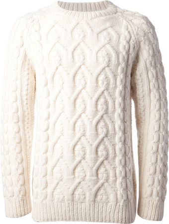 Maison Martin Margiela Cable Knit Sweater - Lyst