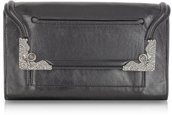 McQ by Alexander McQueen Black Genuine Leather Clutch - Lyst