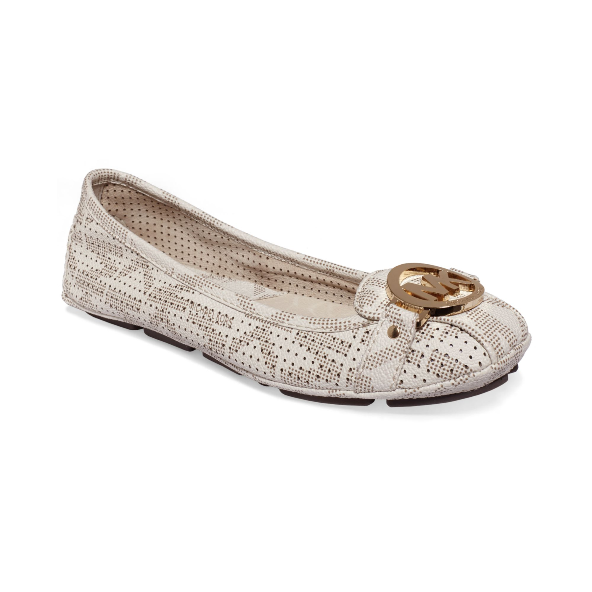 michael kors ballet flats in white vanilla lyst. Black Bedroom Furniture Sets. Home Design Ideas