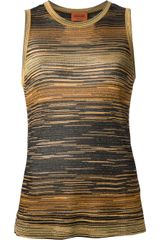 Missoni Stripey Tank Top - Lyst