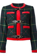Moschino Plaid Jacket - Lyst