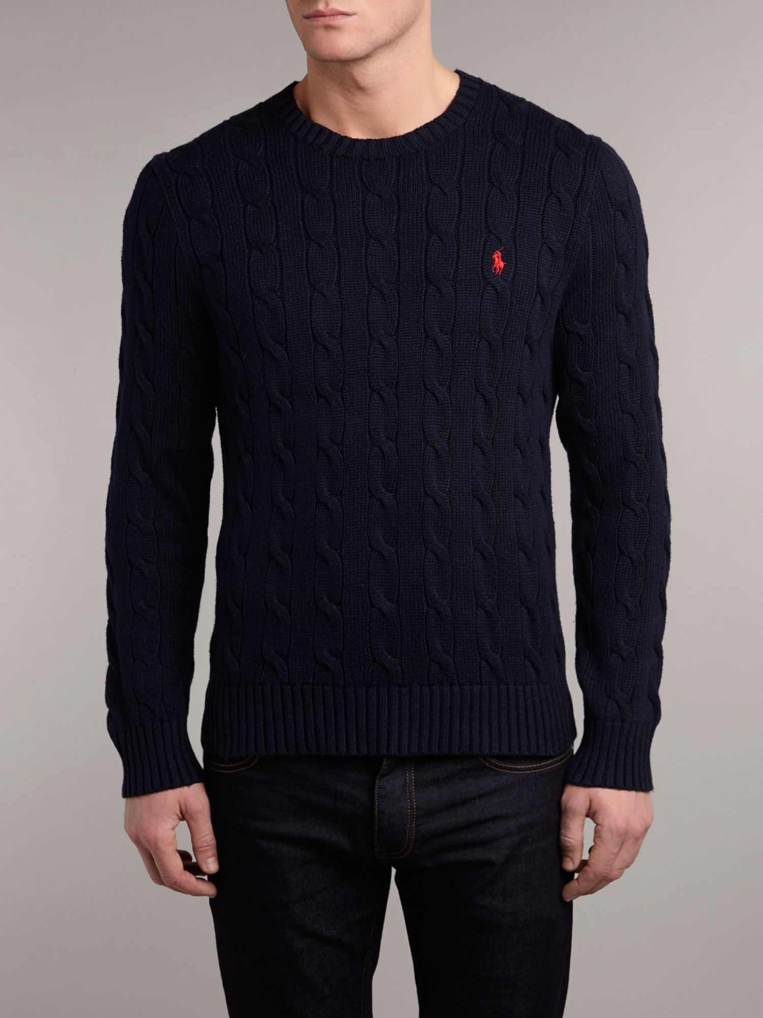 Polo Ralph Lauren Slim Fit Sweater In Blue For Men Lyst