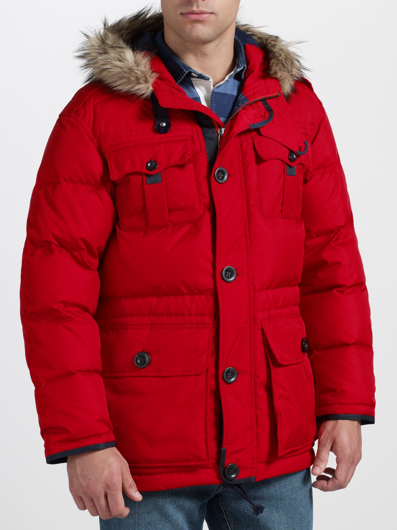 c3a491e9 ... where to buy polo ralph lauren himal down parka in red for men lyst  27dfb 16461