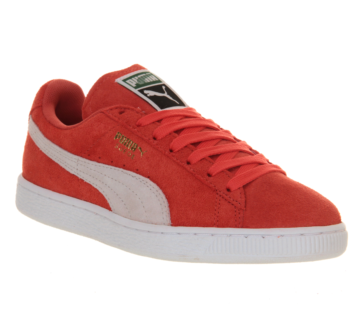 puma suede classic in red for men coral lyst. Black Bedroom Furniture Sets. Home Design Ideas